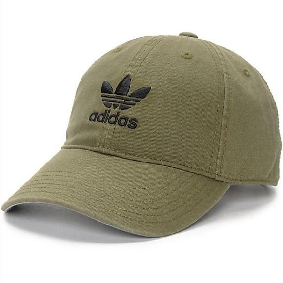 adidas Accessories - Adidas Olive Green Baseball Hat f7726c4b026